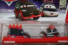 "DISNEY PIXAR CARS 2 ""2-PACK YOKOZA & CHISAKI"" NEW IN PACKAGE, SHIP WORLDWIDE"