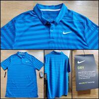 Nike Dri-Fit Standard-Fit Golf Polo 890103-465 Men's Medium Blue NWTs