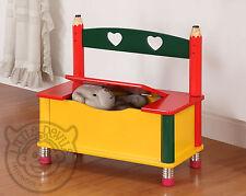MATITA Tema Bambini S Bench / Sedia / Sedile & giocattolo scatola di immagazzinaggio di / Petto per bambini