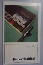 Recorderfibel /Hagen Jakubaschk /1982 /Raumakustik,Wiedergabe,Aufnahme,Mikrofon