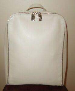 Furla Cream Leather Backpack