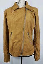 Emmer & Oat Brown Womens Slant Zip Jacket Size Large New (895)