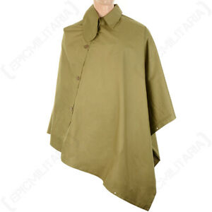 Re-enactment WW2 British Army Military MKVII Cape - Olive Drab - One Size