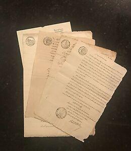 Original MANUSCRIPTS~ITALY-1799;1808;1811;1813;1820=DEL ALPES=5dcs#01918