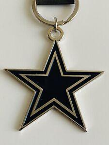 "DALLAS COWBOYS THICK METAL KEYCHAIN KEY RING DECAL LOGO NFL FOOTBALL 3"" ELLIOT"