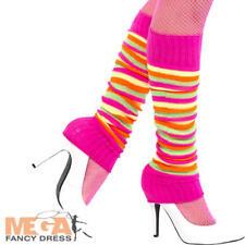 Colourful Legwarmers Ladies Fancy Dress 1980s Sport Adults Costume Accessory New