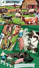 FERME ZOO set animaux neuf dans sa boîte 70er Hong Kong Piñata > heinerle 16 pces