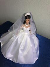 Wunderschöne Grace Kelly  Hochzeitskleid Replik für Barbie  Handarbeit