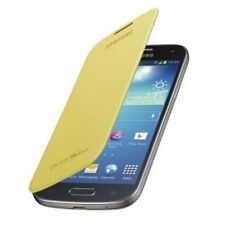 Samsung Custodia originale Flip Cover a libro Wallet Gialla per GALAXY S4 Mini