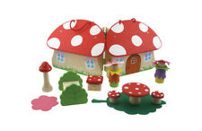 Wooden Toy Collection Preschool Line Small Mushroom House Pretend Play Gift
