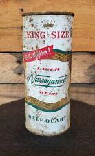 Narragansett Beer Can Rhode Island Brewing Cranston, RI 16oz Half Quart Pint FT