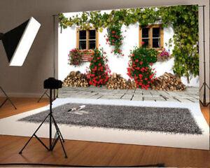 7x5ft Background Flowers Scene Vinyl Photo Backdrop Studio Prop Window Timber