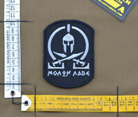 """Ricamata / Embroidered Patch """"Molon Labe"""" Black with VELCRO® brand hook"""