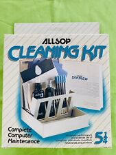 """Vintage 1980s Allsop's 5.25"""" Floppy Disk Drive Cleaning Kit. Brand New In Box."""