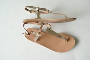 ancient greek gold leather sandals…size eu37…vgc...