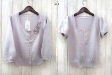 BNWT Laisse Passe Lavender Lilac Purple Knit Top And Cardigan Ensemble Size 8