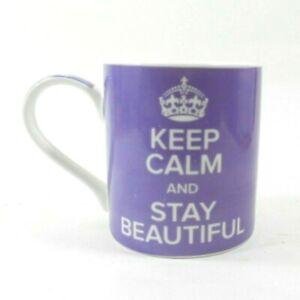 Kent Pottery Keep Calm and Stay Beautiful Purple Mug