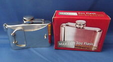 MAXAM Stainless Steel 3 oz Alcohol BELT BUCKLE FLASK with Screw Cap