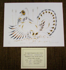 EDDY COBINESS Limited Edition Lithograph Art GROUSE DRUMMING 60/400 Signed V51F