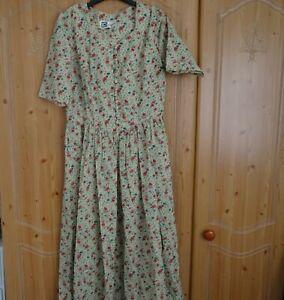 Vintage Origin Womens Dress Size 14 Floral Button Front
