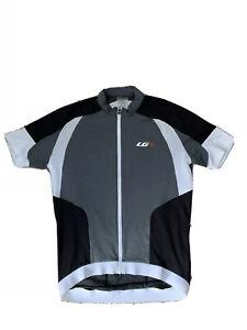 NEW Louis Garneau Icefit Cycling Jersey Size M Medium Gray White Black 84.99$
