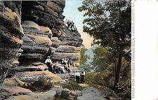 Illinois postcard Starved Rock, Devils Nose opposite Starved Rock Lasalle County