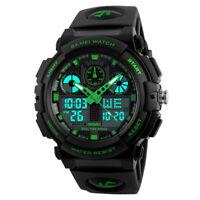 SKMEI Men's Quartz Fashion LED Military Date Chrono Waterproof Sports Watch US