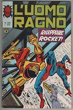 L' UOMO RAGNO corno N.266 RIAPPARE ROCKET ! 1980 racer devil the hulk