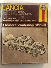 Lancia Beta Sedan Coupe HPE 1976 1980 107 cu in (1.8 liter) 122 (2 liter) Manual