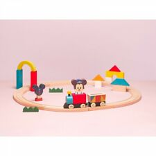 New listing Disney Kidea Train & Rail Engineer costume Mickey Mouse Wooden toy Baby Kids