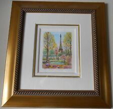 DANIELE CAMBIER  FRAMED SIGNED ORIGINAL WATERCOLOR PAINTING ON VINCI PAPER  2000