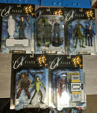 THE X-FILES Mcfarlane Toys 5 Carded Figures Lot, Mulder, Scully, Aliens, Horror