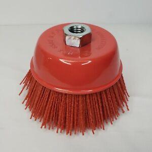 """6"""" Cup Brush Nylon Filament 5/8""""-11 Thread 2500 max.RPM"""