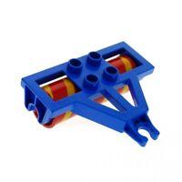 1x Lego Duplo Anhänger Walze blau rot orange gelb Bauernhof Traktor 4828c02pb01