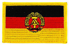 FLAG PATCH PATCHES EAST DDR GDR GERMANY GERMAN IRON ON COUNTRY EMBROIDERED WORLD