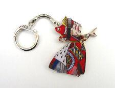 Queen of Hearts Keyring Tenniel Carroll Alice in Wonderland Literary Xmas Gift