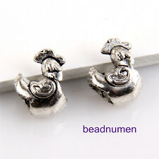 20pcs Zinc alloy Rooster charms big hole beads(5mm) 1B32