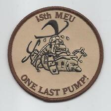 """HMM-364 15th MEU """"ONE LAST PUMP."""" patch"""