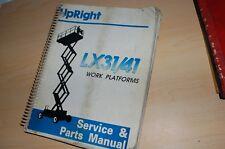 UPRIGHT LX31 LX41 Aerial Scissor Man Lift Service Parts Manual repair shop owner