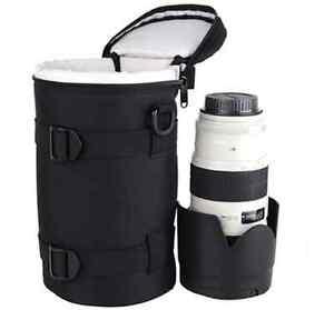 Camera Lens Case Bag lens protector Sling Shoulder Belt Cover Cases Pouch Lens
