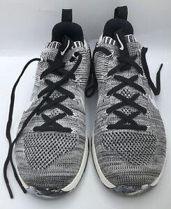 Nike Metcon DSX Flyknit 2 Mens Training Shoes Black White 924423 001 Size 8