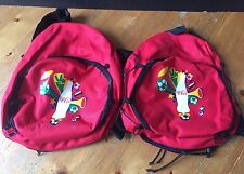 2 X Bolsas De Fútbol De Coca Cola Coke mochilas Rojo Deporte De Fútbol