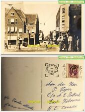 NETHERLANDS 1952 GRONINGEN VANCOUVER CANADA 3 CENT WASHINGTON RPPC POST CARD