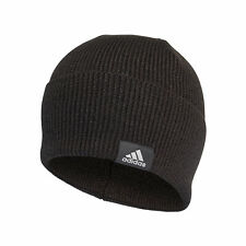 adidas Performance Mens Kids Knitted Woolie Beanie Hat Black - Child