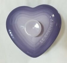 Le Creuset Heart Ramekin with Lid: Bluebell Purple New in Box Love Gift Cookware