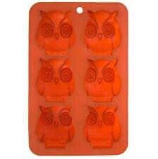 Owl Bird Baking Cupcake Mold Orange Silicone