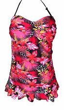 Sunshine Zone Pink Halter Skirt Swimsuit Size L 12/14