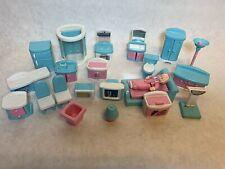 Vintage Doll House Furniture, Large Lot, Some Barbie Stuff