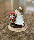 RETIRED+Wee+Forest+Folk+M-174+The+Nutcracker+1991+Signed+White+Miniature+Mouse