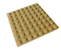 Lego 2 Stück Platte 8x8 in beige (tan) 41539 Neu Platten Bauplatte City Basics